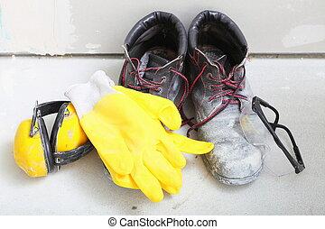 construction equipment work boots noise muffs - Renovation...