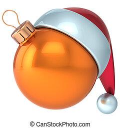 Christmas ball orange New Year