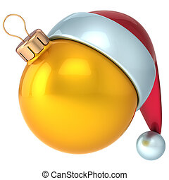 Christmas ball New Years Eve gold - Christmas ball Happy New...