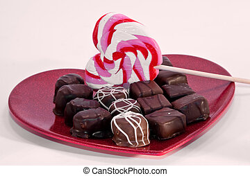 Valentine\'s Day sweets plate