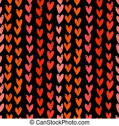 Velentines day pattern with hand painted hearts - Texture...
