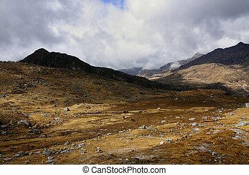 Kupup Valley, Sikkim - Kupup Valley under clouds , Sikkim