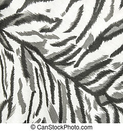 Fabric skin white tiger - Texture fabric skin white tiger...