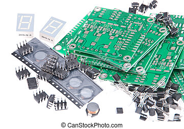 PCBs with different electronic parts - PCBs with different...