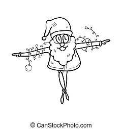 hand drawing cartoon christmas