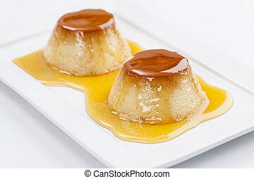 Brazilian Pudim - Pudim, a delicious brazilian dessert, made...