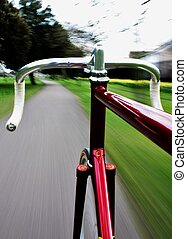 Fixed Gear - Long exposure taken from a camera fixed on a...