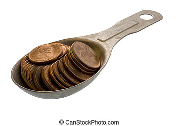 tablespoon of pennies