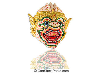 Thai ramayana mask figurine