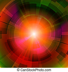 Abstract background - Colorful geometric background with...