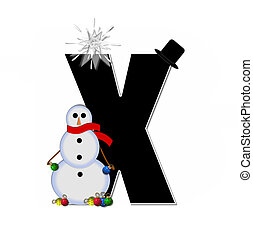 Alphabet Frosty X - The letter X, in the alphabet set...