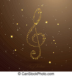 Vector Elegant Clef - Vector Illustration of an Elegant Clef