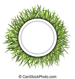 Grass frame green for your design