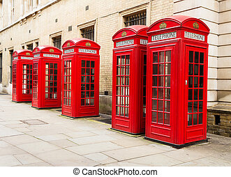 Red telephone boxes - Typical red telephone boxes