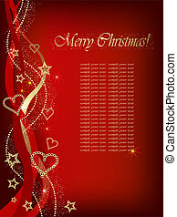 Christmas red back ground. - Christmas background with...