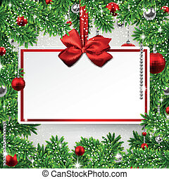 Christmas frame with invitation card - Holiday frame...