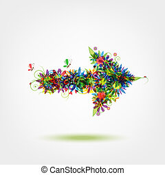 Floral arrow for your design
