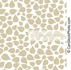 Seamless leaf pattern. Vector illustration
