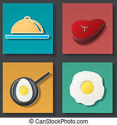 Set of food icon