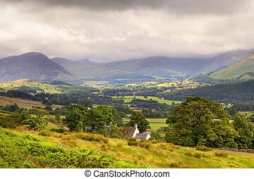 Cumbria landscape - Lakeland cottage near Buttermere,...