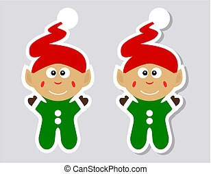 a sticker happy leprechaun with and