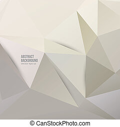 Vector abstract background Polygonal pattern and object
