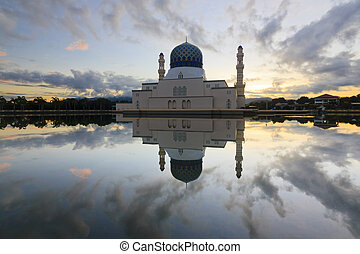 Beautiful reflection of mosque - Beautiful reflection of...