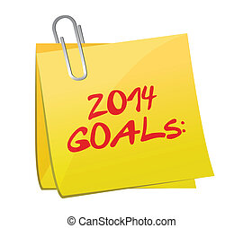 2014 goals post illustration design