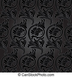 Damask vintage floral seamless pattern background. - Damask...
