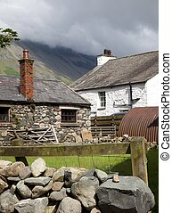 Lakeland farm - Traditional Lakeland stone farm, Wasdale...