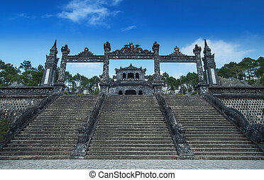 Tomb of Khai Dinh, Hue, Vietnam UNESCO World Heritage Site -...