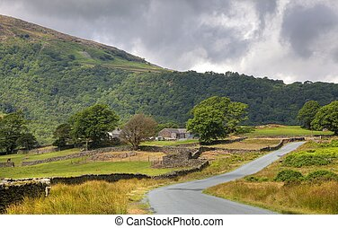 Lakeland Farm - Lakeland farm, the Lake District National...