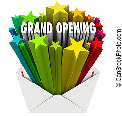Grand Opening Announcement Letter Envelope Flyer - Grand...