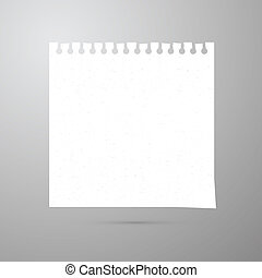 Vector Empty White Paper Sheet