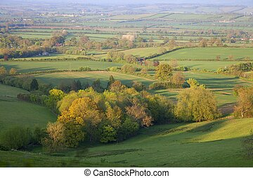 Pastoral countryside, England - Pastoral countryside in...