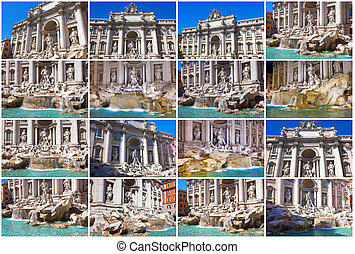 Fountain di Trevi - most famous fountain in Rome, Italy
