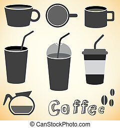 coffee cup top view vector - image of coffee cup top view...