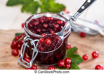 Red Currant Jam - Homemade Red Currant Jam with fresh fruits