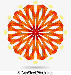 Vector eco icon , flower design element. - geometric symbol...