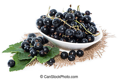 Isolated Black Currants (on white background)