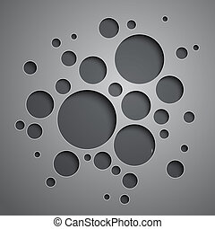 Abstract background with black and grey circles. RGB EPS 10...