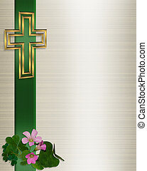 Wedding Invitation Christian Cross - Image and illustration...
