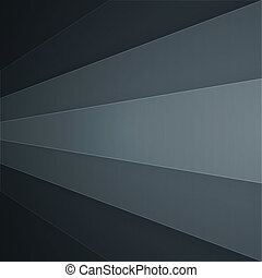 Abstract background with dark grey paper layers - Dark grey...