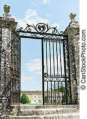 Large Wrought Iron Gate to provide protection to an old...