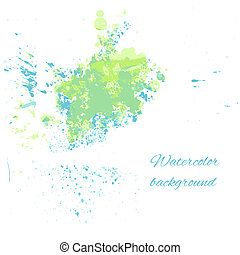 Watercolor blue-green background for your design