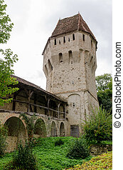 Tinsmiths' Tower and Musketeers' Passage in Sighisoara,...