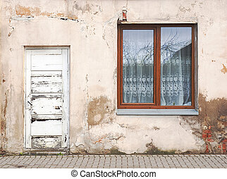 wall with window background