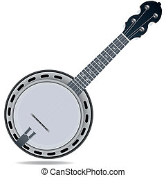 Banjo fiddle instrument - Grey fiddle insrtument banjo...