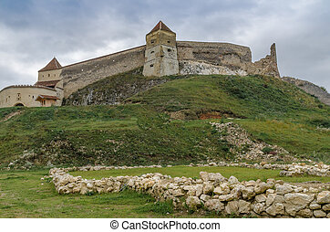 Ruins of Rasnov fortress - Ancient ruins of the Teutonic...