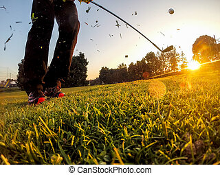 Golf: Short Game around the green. - Golf: example of short...